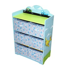 Cars & Butterflies Toy Storage Unit