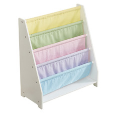 All 4 Kids Charlie Wooden Canvas Sling Bookcase