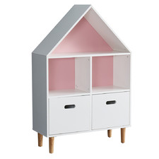 All 4 Kids White & Pink Ivy Bookcase