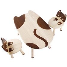 All 4 Kids 3 Piece My Little Kitten Table & Chair Set