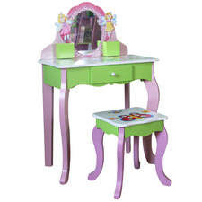 All 4 Kids Flower Dressing Table with Stool