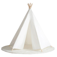 All 4 Kids White Hexagonal Cotton Teepee Tent