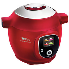 Red Tefal Cook4Me+ Multicooker & Pressure Cooker
