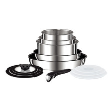 13 Piece Tefal Ingenio Stainless Steel Induction Cookware Set