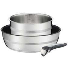 3 Piece Jamie Oliver Ingenio Stainless Steel Induction Pan Set