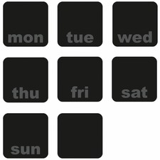 Days of the Week Planner Chalkboard Wall Decals