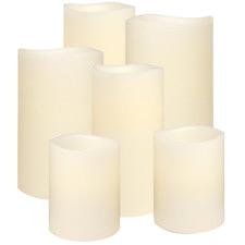 6 Piece Classic Ivory Everyday Neutrals Stylist Wax Candle Set