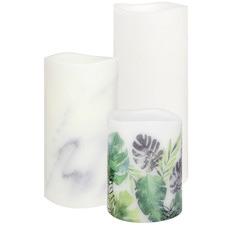 3 Piece Meena Vignette LED Wax Candle Set