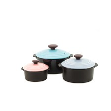 3 Piece Dandy Nature Cook Stone Pots Set