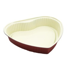 Ceramic Natural Coating Heart Shape 27cm Cake Pan