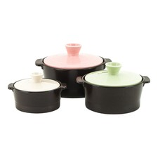3 Piece Voll Nature Cook Stone Pots Set