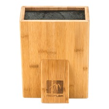 Bamboo Univeral Knife Block