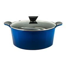 Venn Blue 9.6L Induction Casserole & Glass Lid
