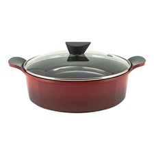 Venn Red 5L Shallow Casserole