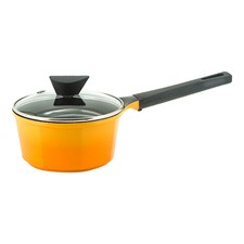 Venn Yellow 2L Induction Saucepan & Glass Lid
