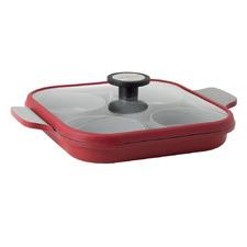 Red & Grey Steam Plus II 27cm Fry Pan