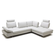 Pembroke Leather Chaise Suite