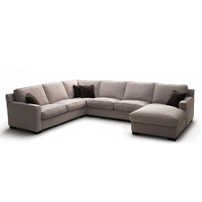 Houston Leather Corner Chaise
