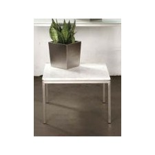 Small Lillia Square Steel & Marble Side Table