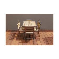 Kauai 8 Seater Teak & Steel Dining Table