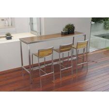 Plantation Teak & Steel Bar Table