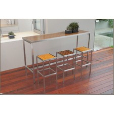 Kauai Steel & Teak High Bar Table