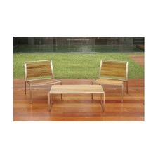 Kauai Small Teak & Steel Coffee Table