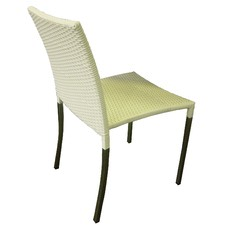 Olivia Dining Chair in White with Square Tube Legs