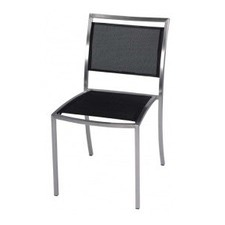 Mesh Dining Chair in Black / White