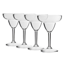 Belize 330ml Polycarbonate Margarita Glasses (Set of 4)