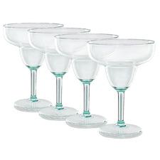 Turquoise Alfresco Selection 390ml Margarita Glasses (Set of 4)