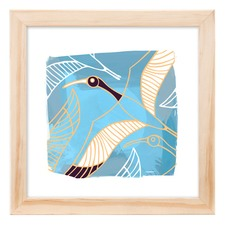 Ibis Blue Framed Print