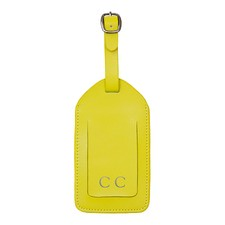 Basics Yellow Luggage Tag