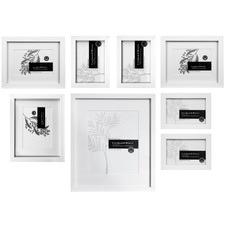 8 Piece Kauri Slim Box Wall of Frames Set