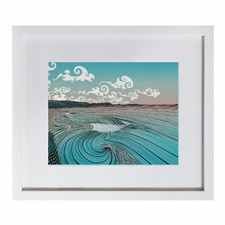 Arataki Whiritoa Framed Printed Wall Art by Elliot Mason