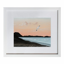 Arataki Sunset Framed Printed Wall Art by Elliot Mason