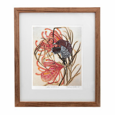Little Wattlebird Framed Printed Wall Art by Fiona Roderick