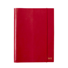 A4 Red Personalised Leather Journal
