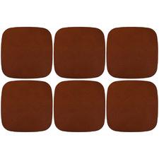 Tan Artisan Leather Coasters (Set of 6)