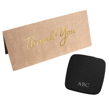 2 Piece Personalised Coaster & Thank You Card Set