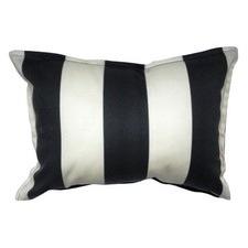 Noire and Ivoire Ligne Accent Pillow