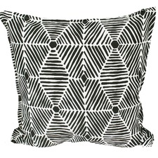 Black & White Tribal Indoor/Outdoor Cushion