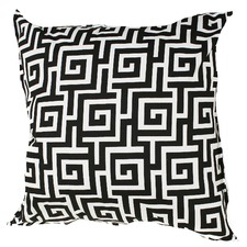 Black & White Greek Key Indoor/Outdoor Cushion