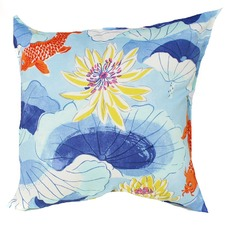 Blue Koy Fish Indoor/Outdoor Cushion
