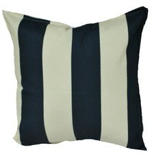 Navy & Ivory Stripe Indoor/Outdoor Cushion