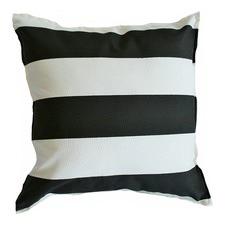 Black & White Stripe Indoor Outdoor Cushion