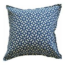 Blue Geometric Indoor Outdoor Cushion