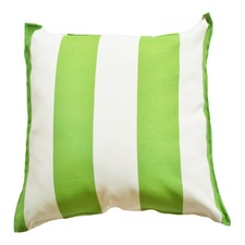 Green & White Cabana Stripe Indoor Outdoor Cushion