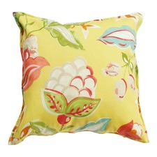 Yellow Floral Indoor Outdoor Cushion