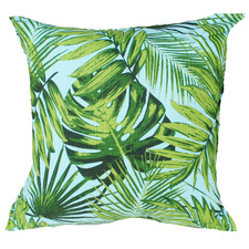 Aqua & Green Rainforest Outdoor Cushion